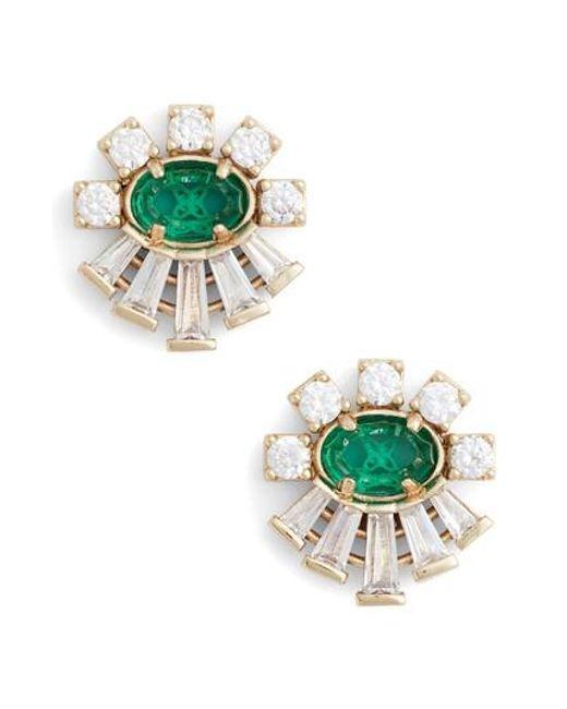 Kendra Scott | Green Atticus Jewel Stud Earrings | Lyst