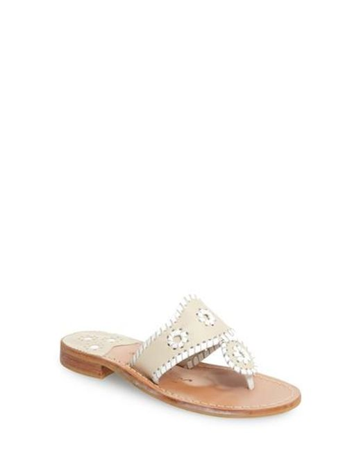 Jack Rogers | Natural Whipstitched Flip Flop | Lyst