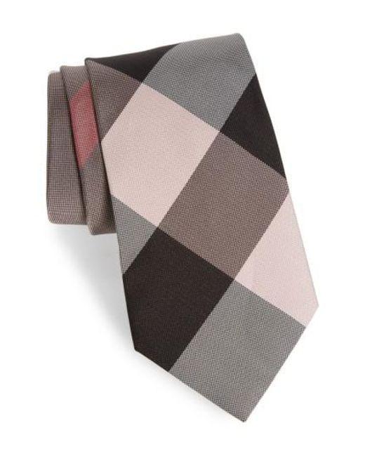 Burberry   Multicolor Clinton Silk Tie for Men   Lyst
