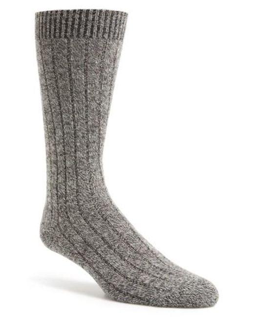 Pantherella | Gray 'waddington' Cashmere Blend Mid Calf Socks for Men | Lyst
