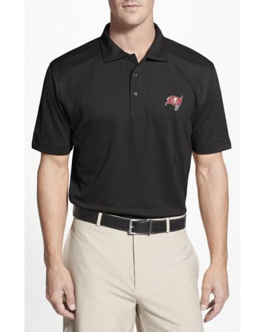 Cutter & Buck - Black 'Tampa Bay Buccaneers - Genre' Drytec Moisture Wicking Polo for Men - Lyst