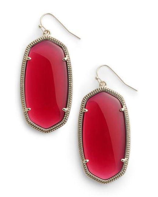 Kendra Scott | Red Danielle - Large Oval Statement Earrings | Lyst