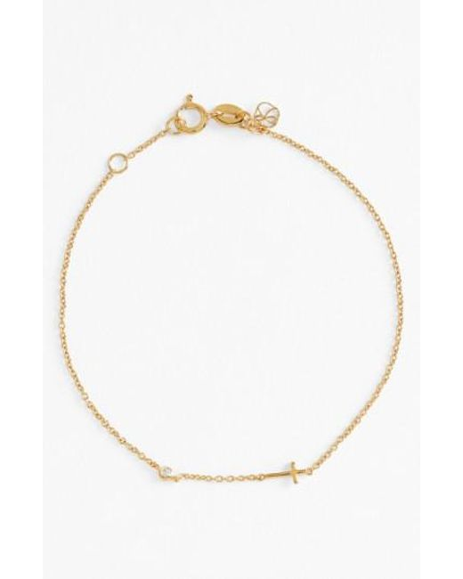 Shy By Sydney Evan | Metallic Cross Bracelet | Lyst