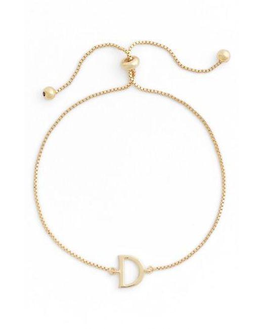 Argento Vivo | Metallic Gold Initial Bracelet | Lyst