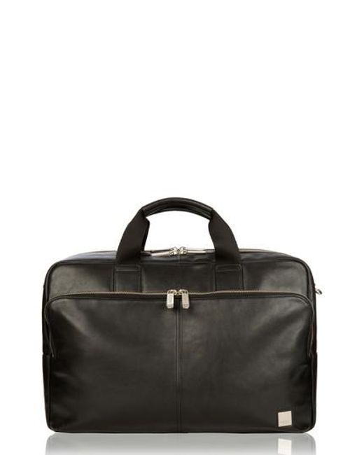 Knomo | Black Brompton Amesbury Leather Briefcase for Men | Lyst