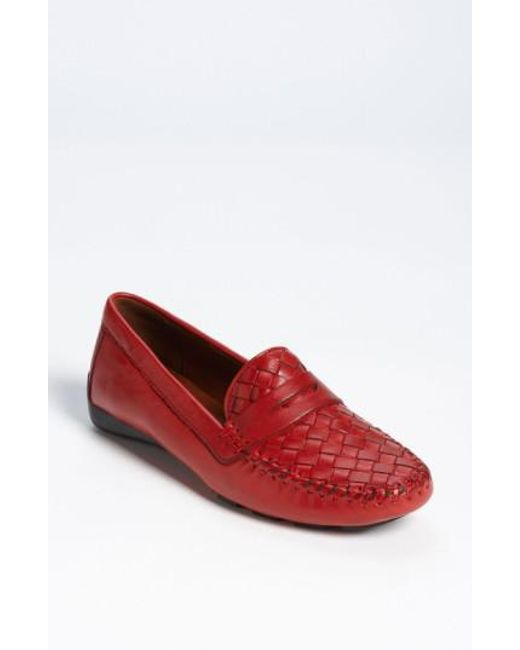Robert Zur - Red Petra Leather Driving Shoe - Lyst