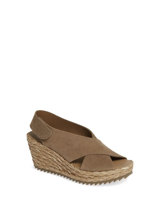 Pedro Garcia - Brown 'federica' Wedge Sandal - Lyst