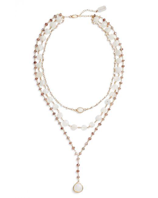 Ela Rae - Metallic Multistrand Y-necklace - Lyst