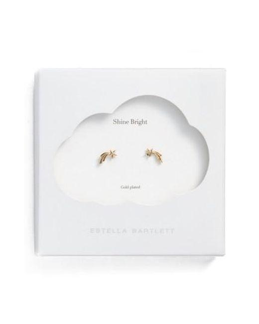 Estella Bartlett - Metallic Shooting Star Stud Earrings - Lyst