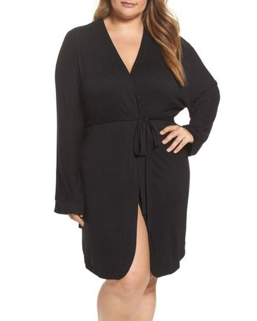 Honeydew Intimates   Black Jersey Robe   Lyst