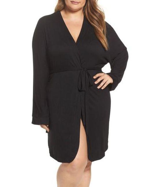 Honeydew Intimates | Black Jersey Robe | Lyst