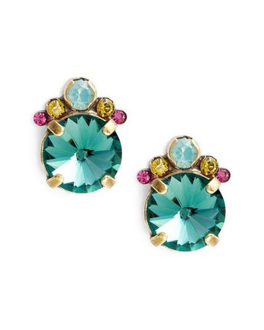 Sorrelli - Multicolor Regal Rounds Crystal Earrings - Lyst