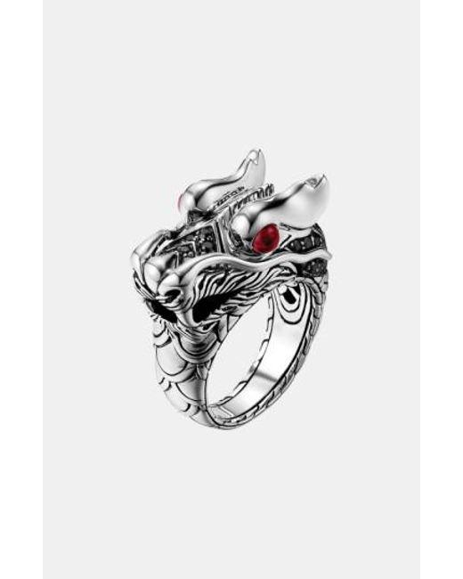 John Hardy | Metallic 'naga Lava' Dragon Ring | Lyst