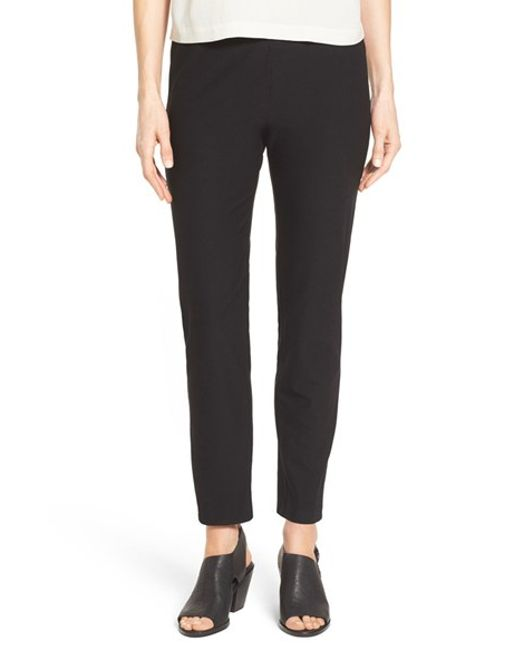 Eileen Fisher | White Slim Ankle Pant | Lyst