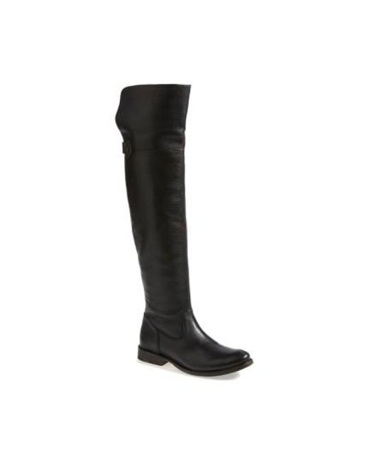Frye | Black 'shirley' Over The Knee Boot | Lyst