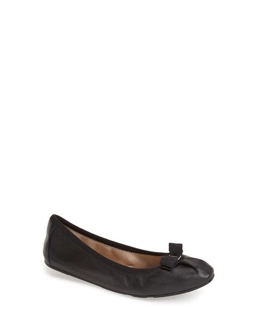 Ferragamo | Black 'my Joy' Flat | Lyst