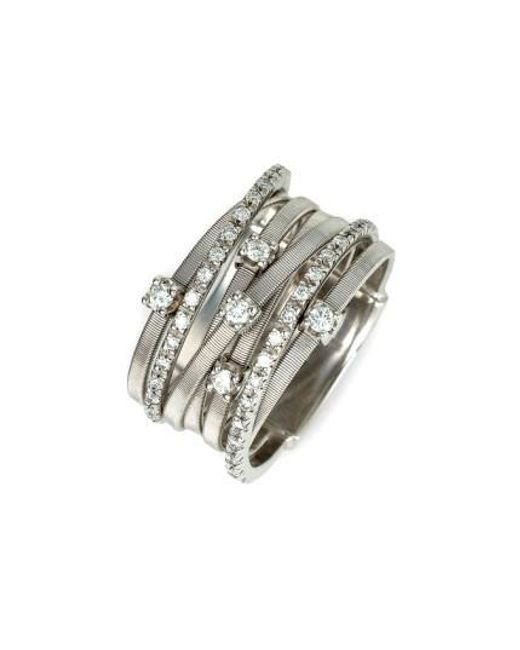 Marco Bicego | White 'goa' Seven Band Diamond Ring | Lyst