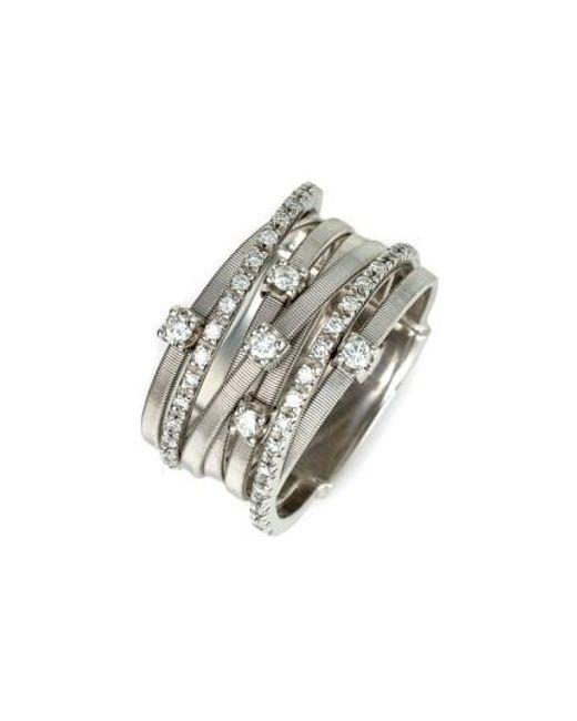 Marco Bicego   White 'goa' Seven Band Diamond Ring   Lyst