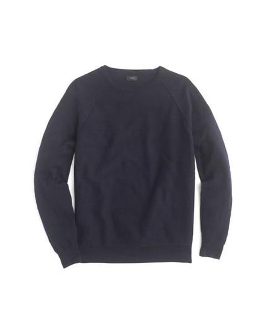 J.Crew | Blue J.crew Slim Rugged Cotton Sweater for Men | Lyst