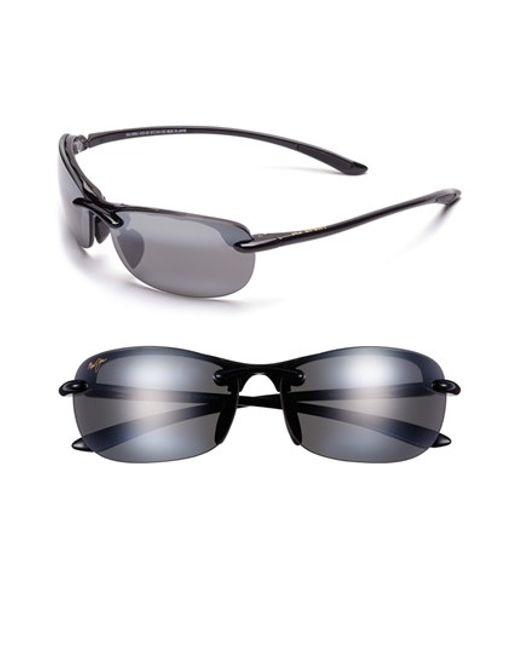 Maui Jim | Black Hanalei 64mm Polarizedplus2 Rimless Sunglasses | Lyst
