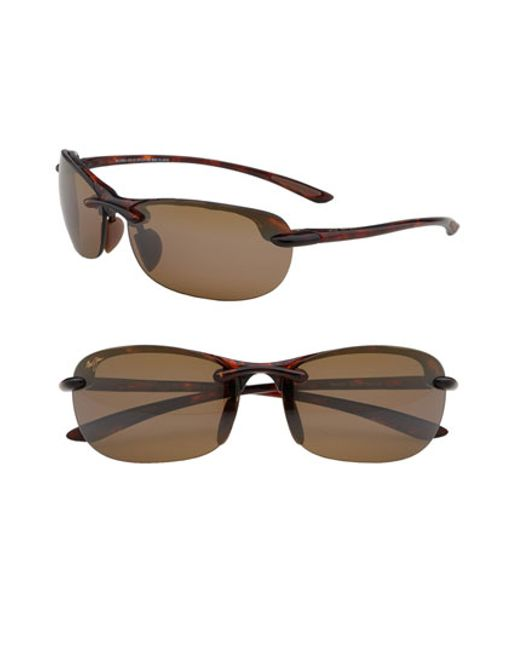 Maui Jim | Brown Hanalei 64mm Polarizedplus2 Rimless Sunglasses | Lyst