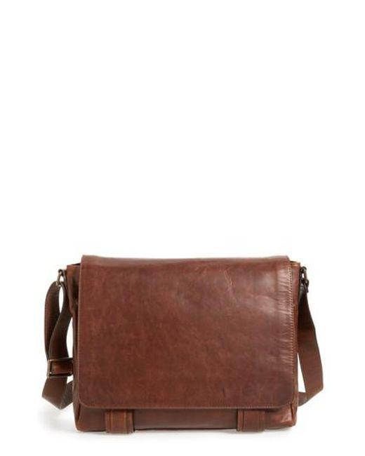 Frye - Brown 'logan' Messenger Bag - for Men - Lyst