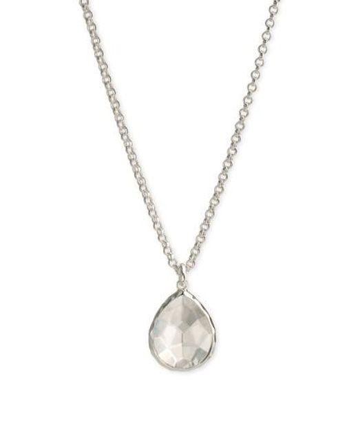 Ippolita | Metallic 'wonderland' Large Teardrop Pendant Necklace - Sterling Silver- Clear Quartz (nordstrom Exclusive) | Lyst