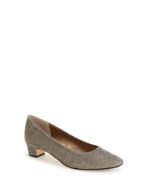 Vaneli - Gray 'astyr' Almond Toe Pump - Lyst