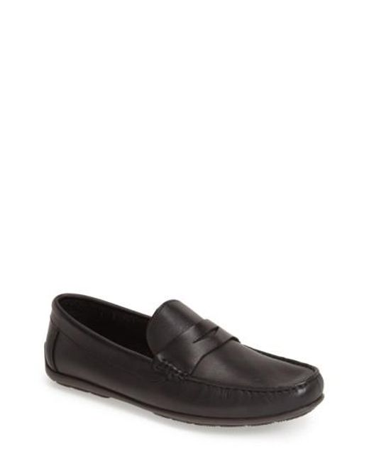 Sandro Moscoloni | Black 'paris' Leather Penny Loafer for Men | Lyst