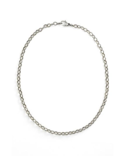 Lagos | Metallic Sterling Silver Caviar 3mm Rope Necklace | Lyst