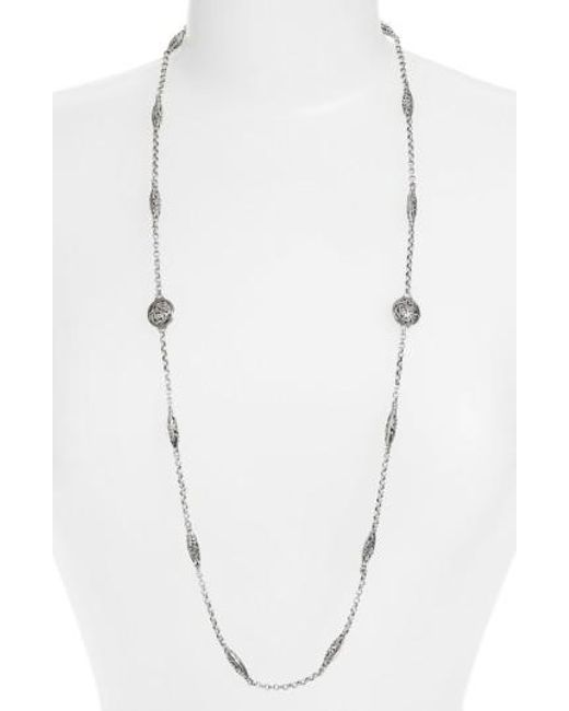 Konstantino - Metallic 'silver Classics' Long Filigree Station Necklace - Lyst