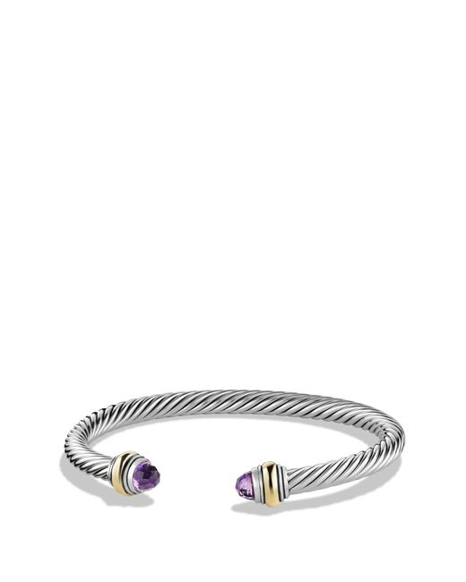 David Yurman - Metallic Cable Classics Bracelet With Semiprecious Stones & 14k Gold Accent - Lyst