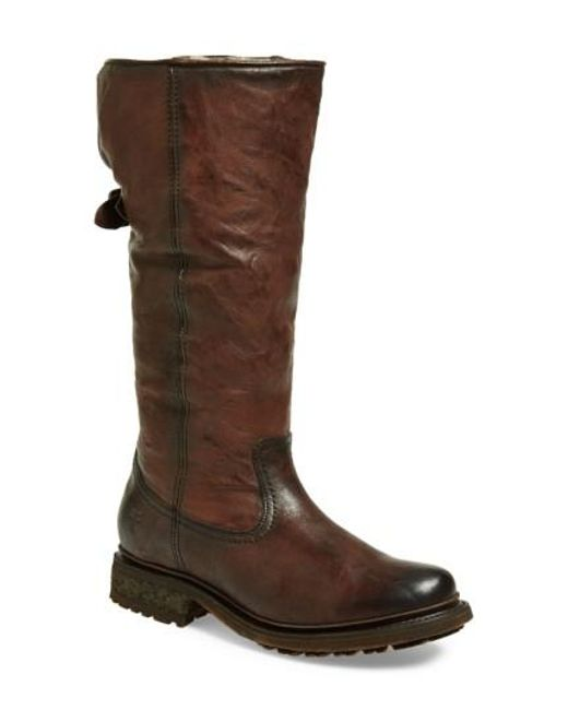 Frye | Brown 'valerie' Pull On Shearling Boot | Lyst