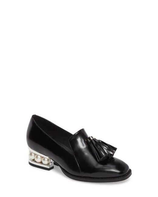 Jeffrey Campbell | Black Lawford Pearly Heeled Loafer | Lyst