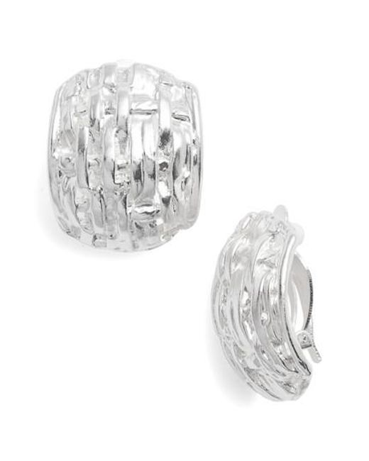 Karine Sultan - Metallic Grace Clip Earrings - Lyst