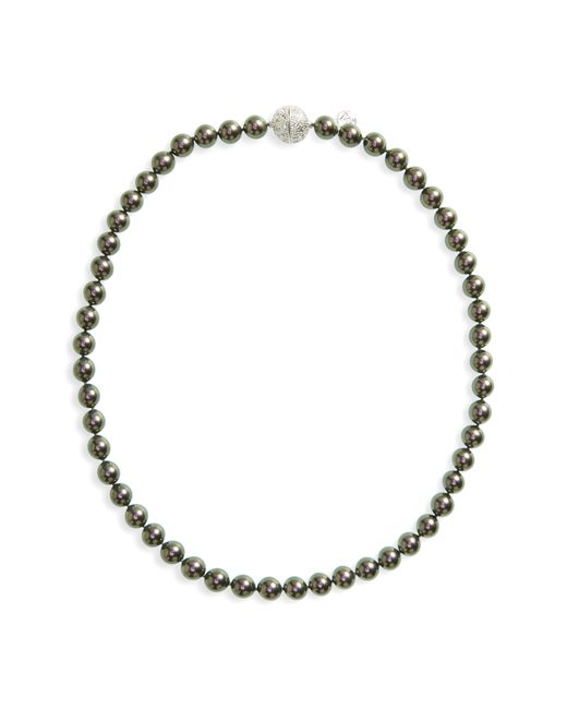 Majorica - Gray 8mm Round Simulated Pearl Strand Necklace - Lyst
