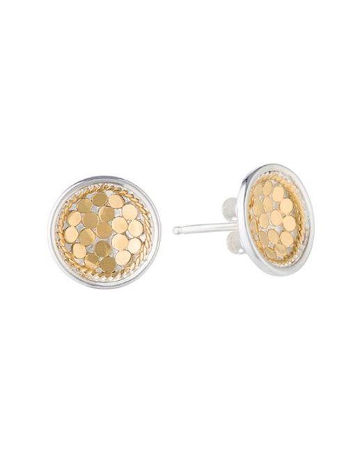Anna Beck | Metallic 'gili' Small Dish Stud Earrings | Lyst