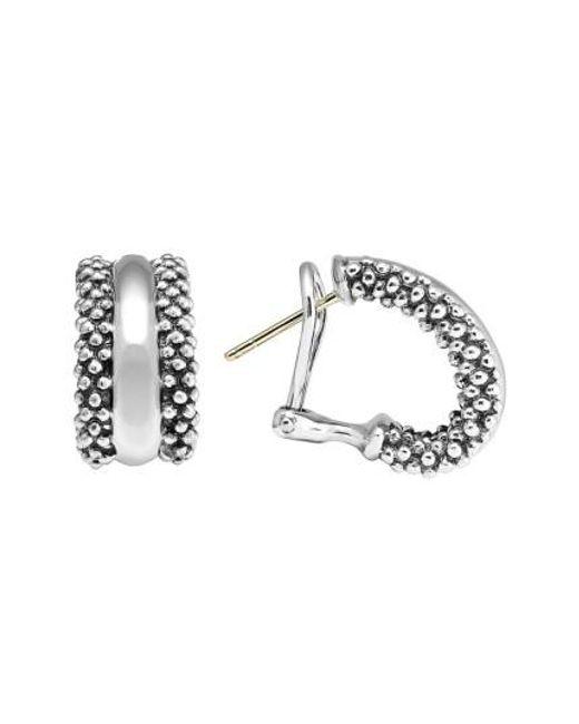Lagos | Metallic Caviar(tm) Sterling Silver Hoop Earrings | Lyst