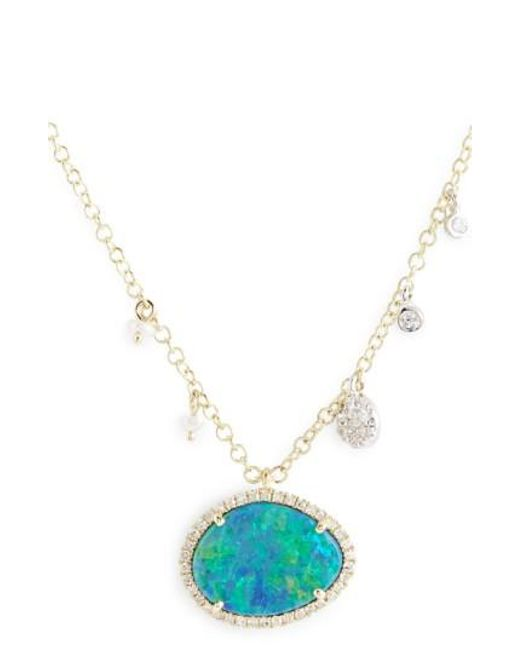 Meira T | Metallic Stone Pendant Necklace | Lyst