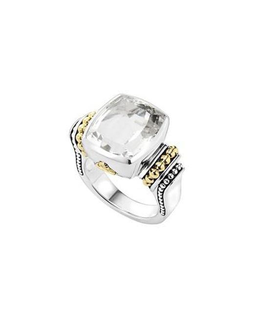 Lagos   White 'caviar Color' Medium Semiprecious Stone Ring   Lyst