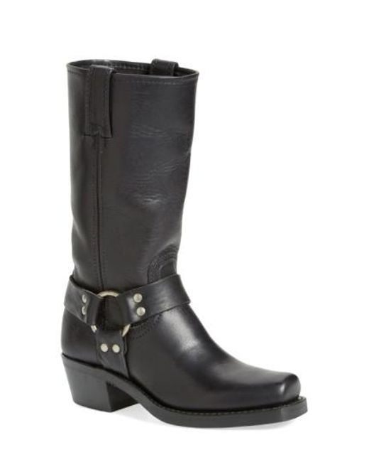 Frye - Black Harness 12R Leather Knee-High Boots - Lyst