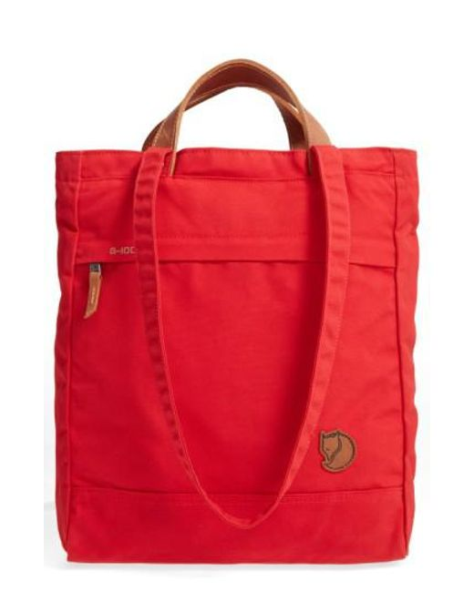 Fjallraven | Red 'totepack No.1' Water Resistant Tote | Lyst