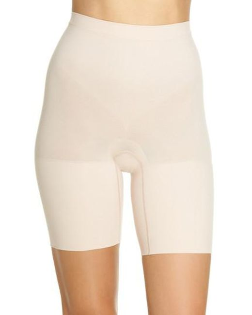 Spanx - Natural Spanx Power Short Mid Thigh Shaper - Lyst