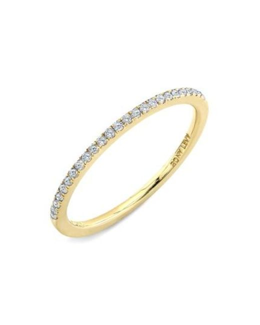 Bony Levy | Metallic 'stackable' Straight Diamond Band Ring (nordstrom Exclusive) | Lyst