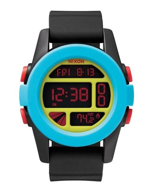 Nixon | Black 'the Unit' Round Digital Watch | Lyst