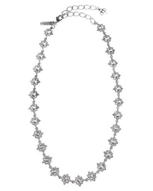 Oscar de la Renta - Metallic 'delicate Star' Swarovski Crystal Collar Necklace - Lyst