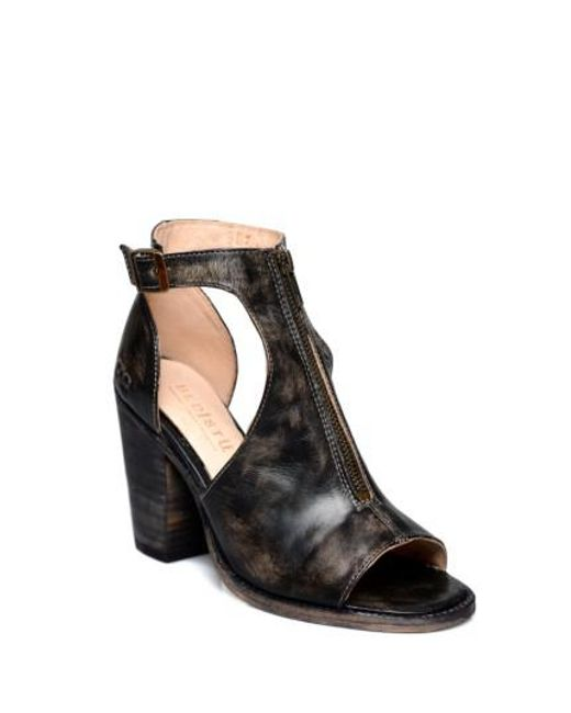 Bed Stu | Black Olena Open Toe Bootie | Lyst
