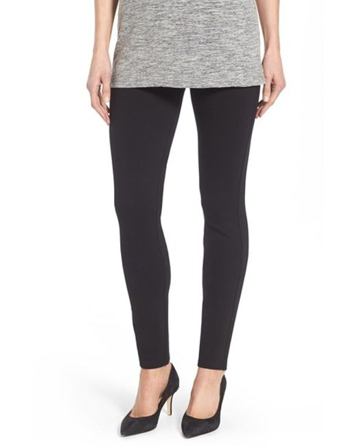 NYDJ | Black Stretch 'jodie' Ponte Leggings | Lyst