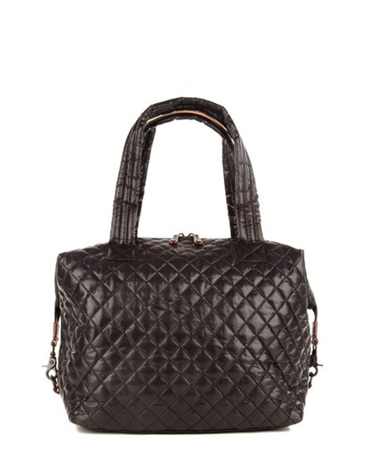 MZ Wallace | Black 'large Sutton' Quilted Oxford Nylon Shoulder Tote | Lyst