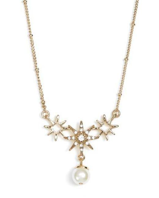 Jenny Packham | Metallic Star Pendant Necklace | Lyst